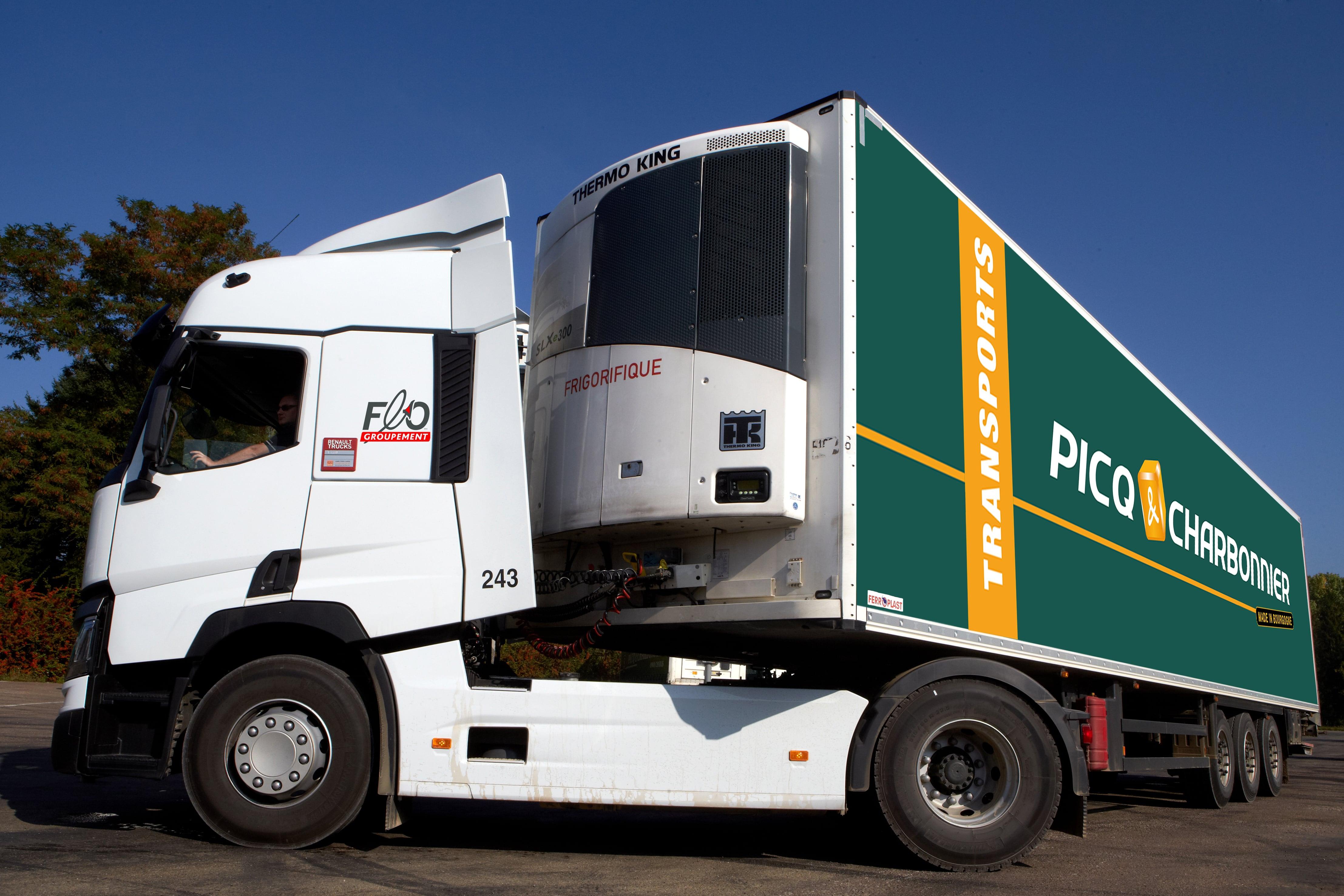 Camion frigorifique Transport Picq & Charbonnier